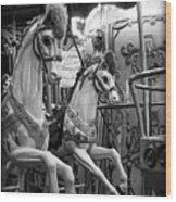 Carousel Horses No. 1 Wood Print