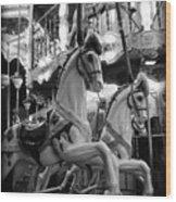 Carousel Horses No.2 Wood Print