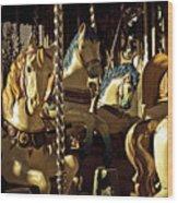 Carousel I  Wood Print