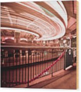 Carousel Lights #2 Wood Print