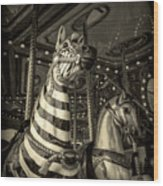 Carousel Zebra Wood Print
