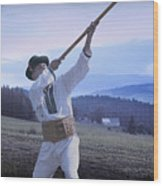 Carpathian Highlander Wood Print