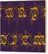 Carpediem Redgold Wood Print