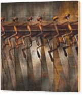 Carpenter  - Saws And Braces  Wood Print