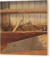 Carpenter's Toolbox - Not Free Do Not Copy Wood Print