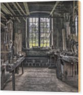 Carpenters Workshop In Gammelstilla, Sweden Wood Print