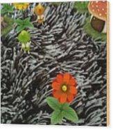 Carpet Under Water Wood Print