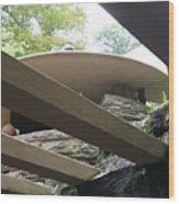 Carport Fallingwater Frank Lloyd Wright Architect  Wood Print