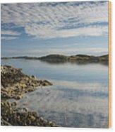 Carragreich Bay Harris Wood Print