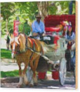 Carriage Colors Wood Print