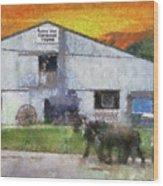 Carriage Tour Mackinac Island Upper Peninsula Michigan Pa 01 Wood Print