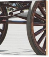 Carriage Wheels Wood Print