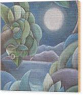 Carribean Night Wood Print