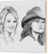 Carrie And Carrie Underwood Wood Print