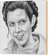 Carrie Fisher Wood Print