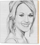 Carrie Underwood Wood Print