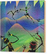 Carried Away By Her Imagination Wood Print