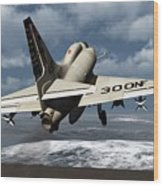 Carrier Launch Wood Print