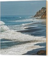 Carrillo Beach Wood Print