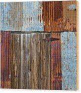 Carrizo Plain Shed Wood Print