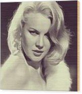 Carrol Baker, Vintage Actress Wood Print