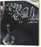 Carroll Shelby Signed Dashboard Wood Print
