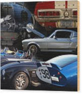 Carroll Shelby Tribute Wood Print by Bill Dutting