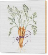Carrot Harvest Wood Print