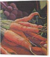 Carrots Wood Print