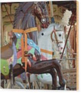 Carrousel 54 Wood Print