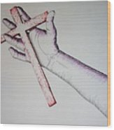 Carry Your Cross Wood Print