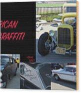 Cars From American Graffiti Wood Print