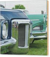 Cars Show Wood Print