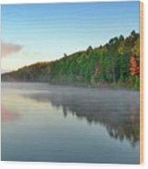 Carson Lake This Fall Wood Print