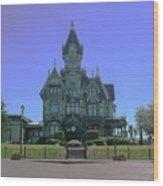 Carson Mansion Wood Print