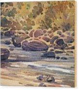 Carson River In Autumn Wood Print