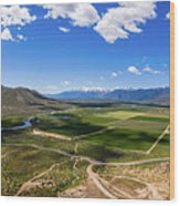 Carson Valley Panorama Wood Print