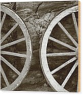 Cart Wheels Wood Print