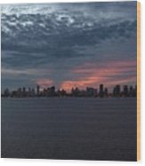 Cartagena Colombia At Sunset Wood Print