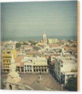 Cartagena De Indias Seen From Above Wood Print