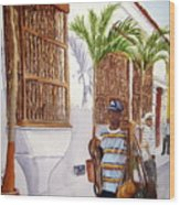 Cartagena Peddler I Wood Print