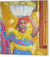 Cartagena Peddler II Wood Print
