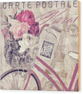 Carte Postale Bicycle Wood Print