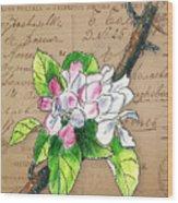 Carte Postale. Blossoming Apple Wood Print
