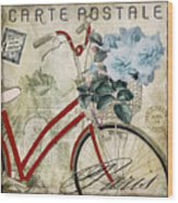 Carte Postale Vintage Bicycle Wood Print