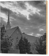 Carter Chapel Bridgewater College Va - Bw 1 Wood Print