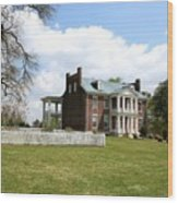 Carter House And Carnton Plantation Wood Print by John Black