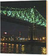 Cartier Bridge Night Wood Print