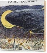Cartoon: Airship Raid 1914 Wood Print