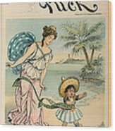 Cartoon: Cuba, 1902 Wood Print